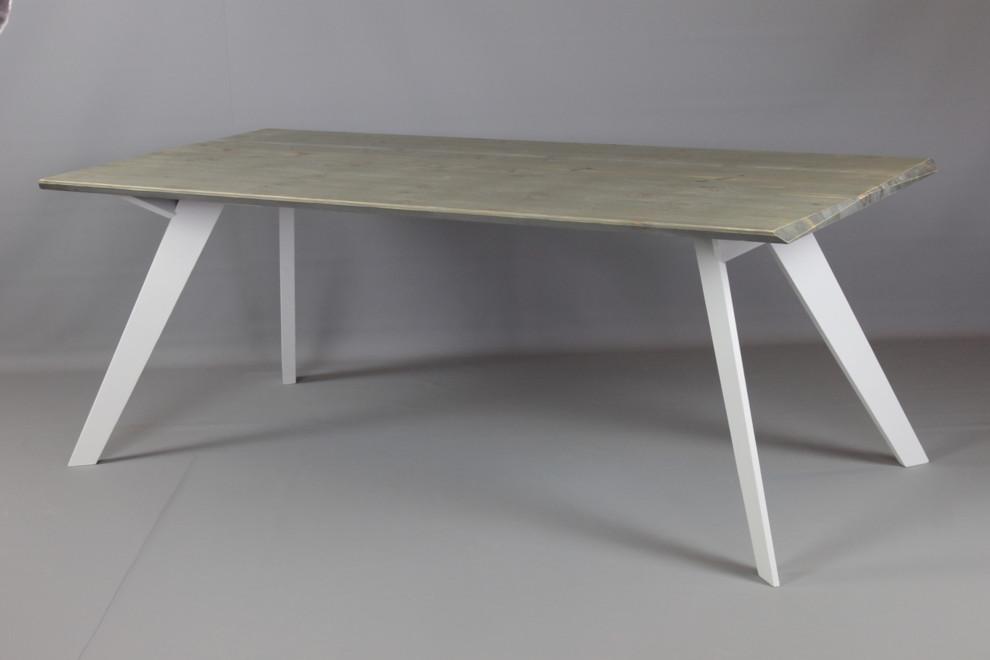 Louna pöytä 200 cm, harmaa / valkoinen