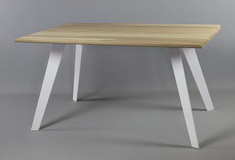 Aini saarnipöytä 140 cm, valkoinen metallijalka