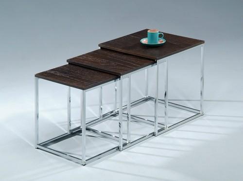 Max sarjapöytä pähkinä/kromi 40x40x50 cm