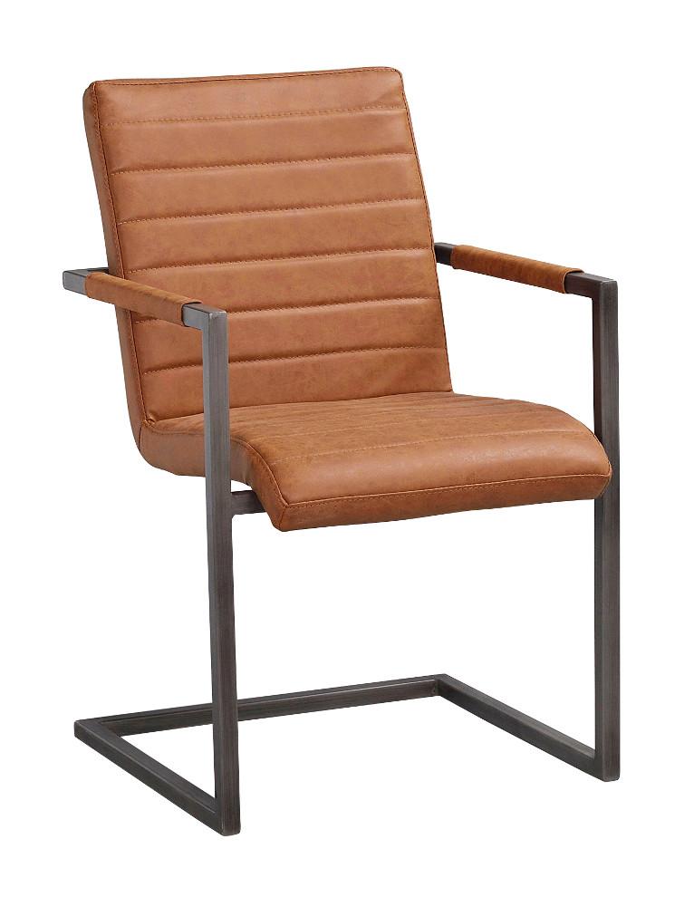 Clive tuoli konjakki keinonahka / metalli, Rowico