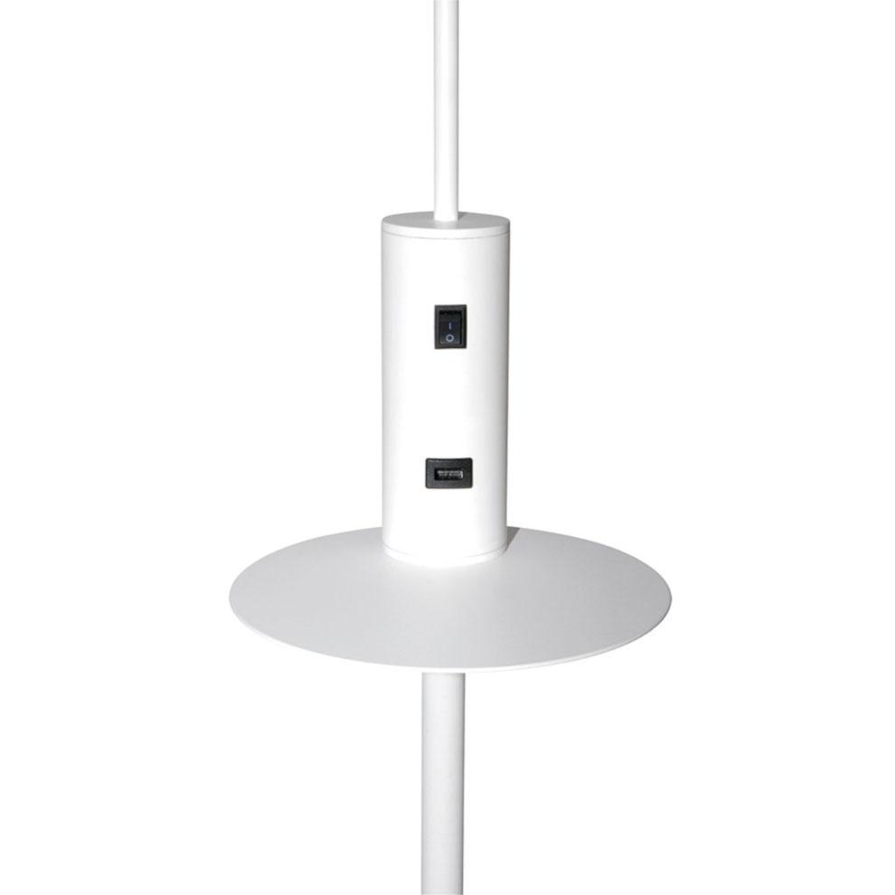 Valaisin Grölund Vigo USB lattiavalaisin valkoinen, MALLIKAPPALE