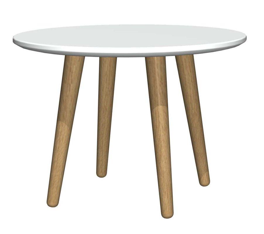 Eelis sohvapöytä pyöreä 50 valkoinen/tammi