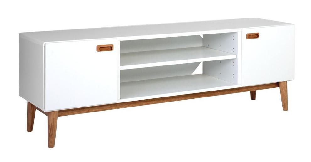 Eelis TV-taso 2:lla ovella valkoinen/tammi
