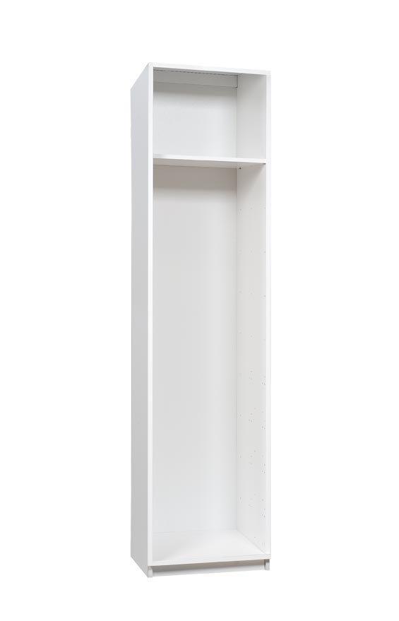 Stina komero 50 valkoinen/hopea jalava