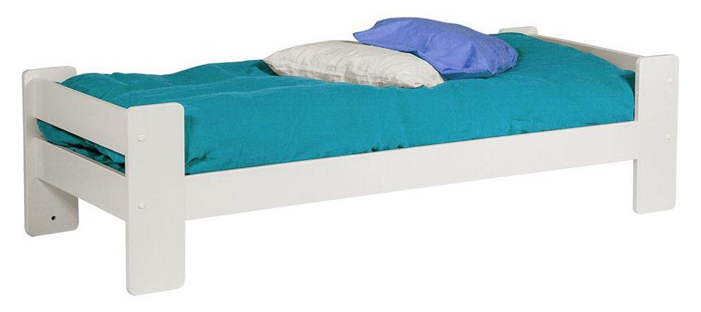 Unipuu sänky 90 valkoinen, sälepohjat