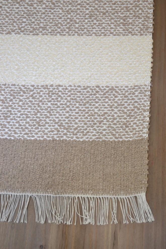 Kodin helmi muovi/puuvilla matto 133x200 beige