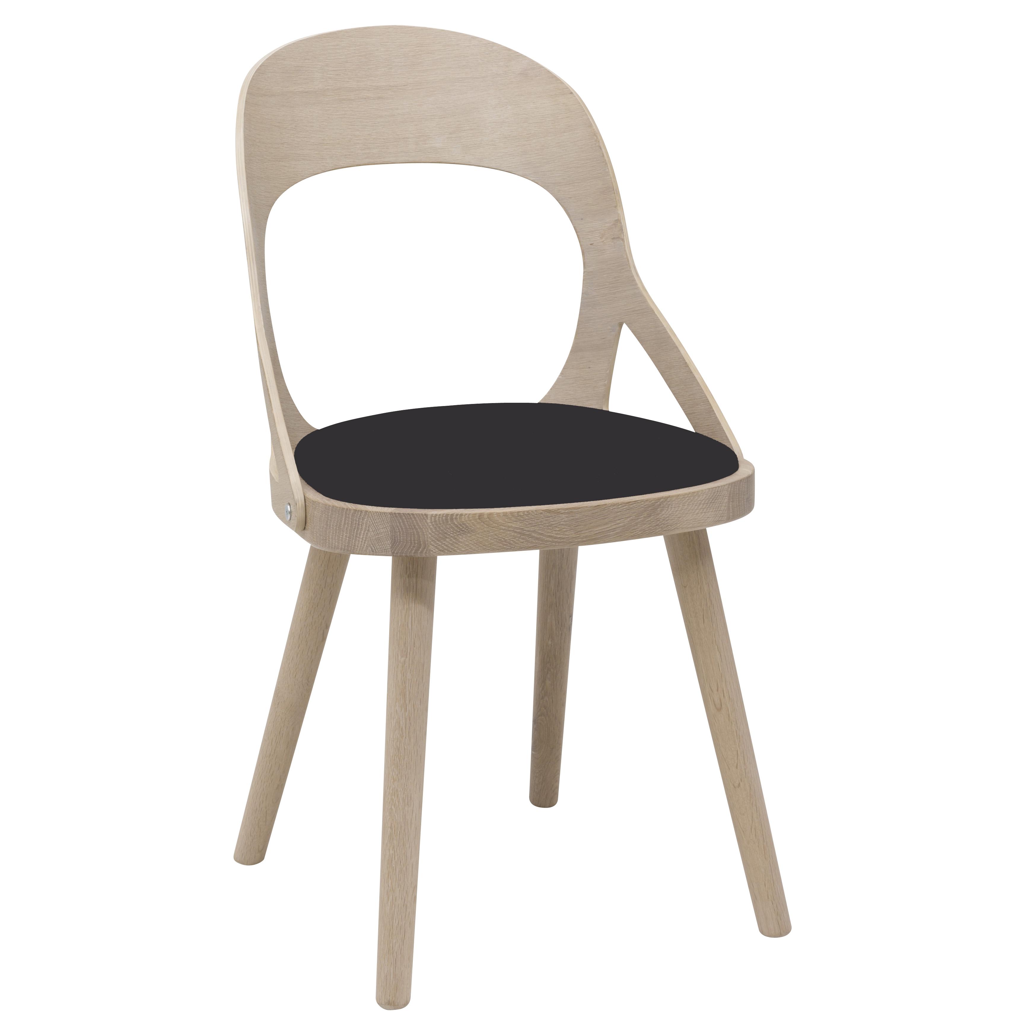 Colibri tuoli valkolakattu tammi, bonded musta, Design Markus Johansson