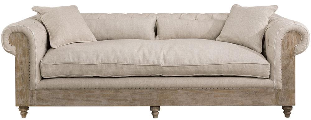 Abbey sohva 3-s Linen hiekka, Artwood