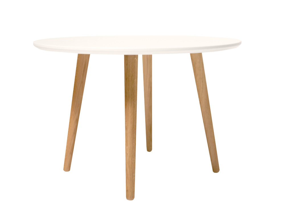 Eelis sohvapöytä pyöreä 65 valkoinen/tammi