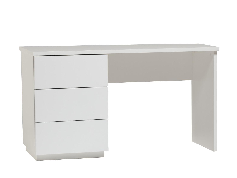 Anton työpöytä 130 cm laatikoilla vasen, valkoinen