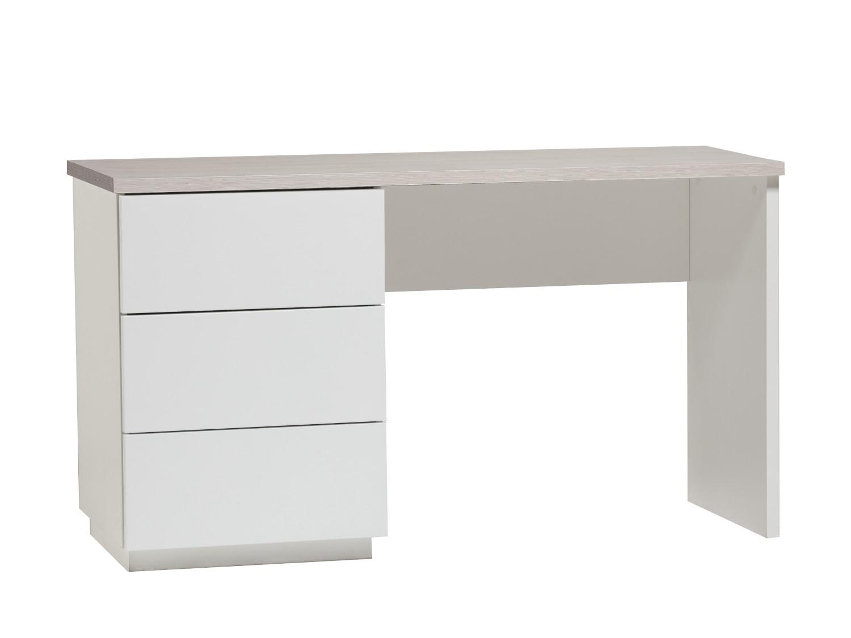 Anton työpöytä 130 cm laatikoilla vasen, valkoinen/saarni