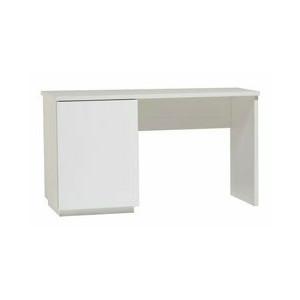 Anton työpöytä 130 cm ovella, valkoinen