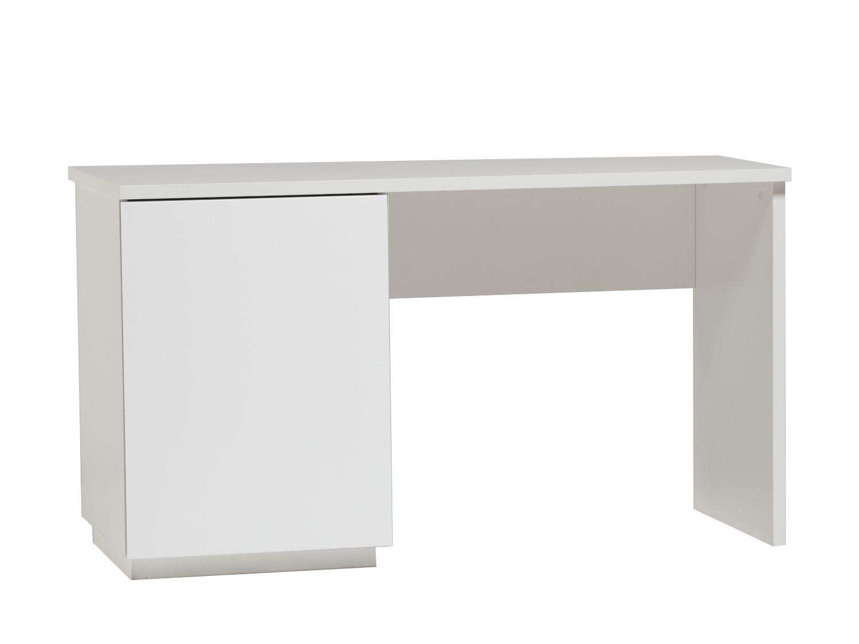Anton työpöytä 130 cm ovella vasen, valkoinen