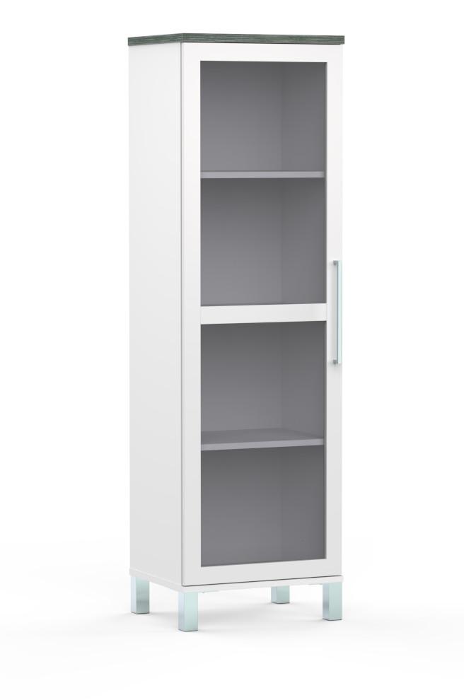 Sound vitriini 1-ovinen valkoinen/harmaa