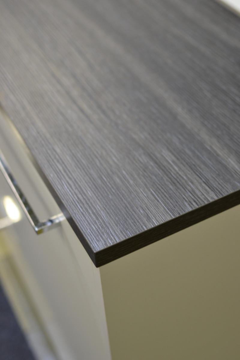 Sound viihdetaso 180 cm valkoinen/harmaa