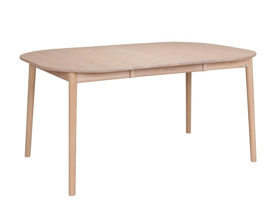 ZigZag pöytä 102(52)x102cm saarni valkolakka