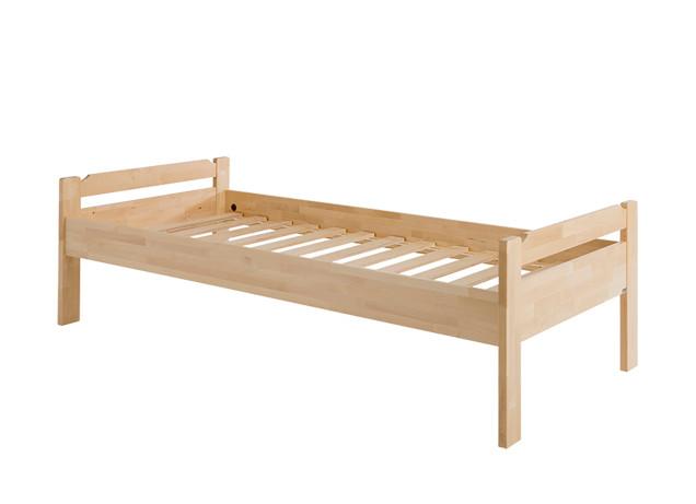 Kuusamo sänky 80x200 sälepohjalla lakattu koivu