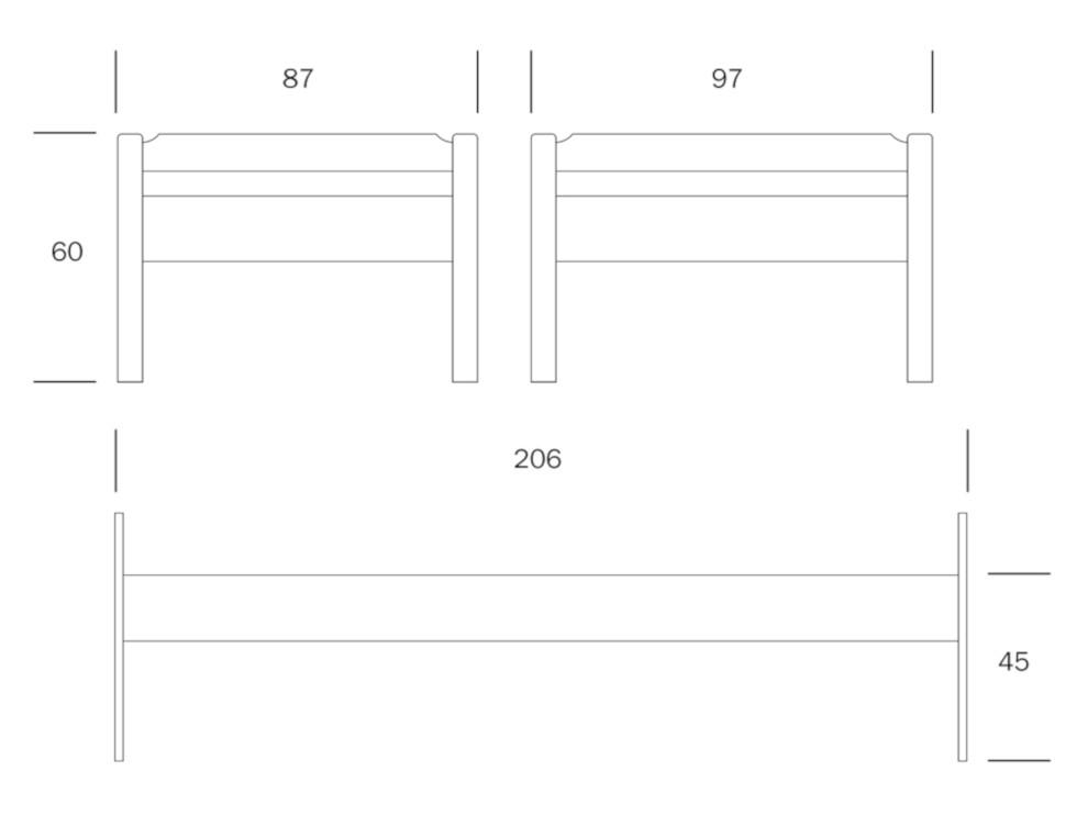 Kuusamo sänky 80x200 sälepohjalla valkoinen