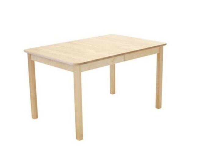 Sanna ruokapöytä 125x85+35cm luonnonväri