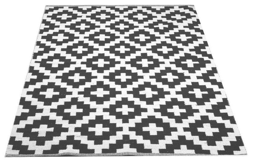 Dhurrie matto 140 x 200 cm harmaa
