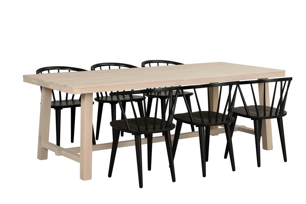 Brooklyn ruokapöytä 220x95 valkoöljytty tammi, Rowico