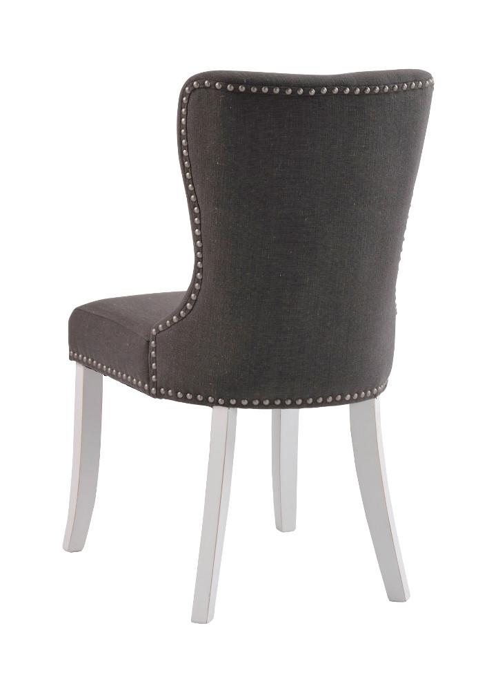 Adele tuoli, harmaa kangas / valkoiset jalat