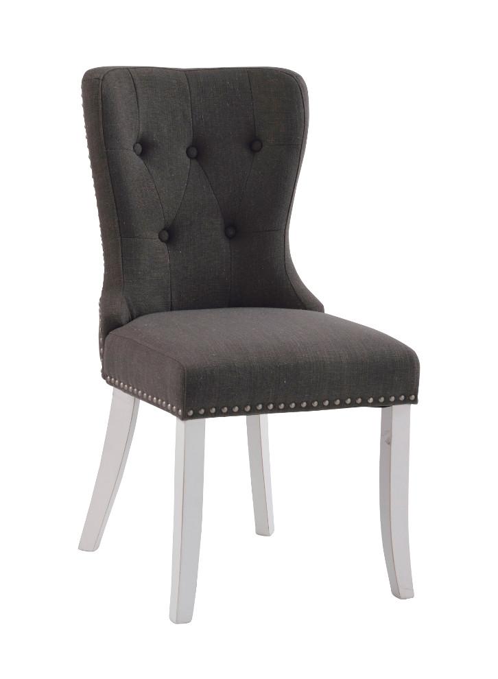 Adele tuoli, harmaa kangas / valkoiset jalat, Rowico LOPPUERÄ