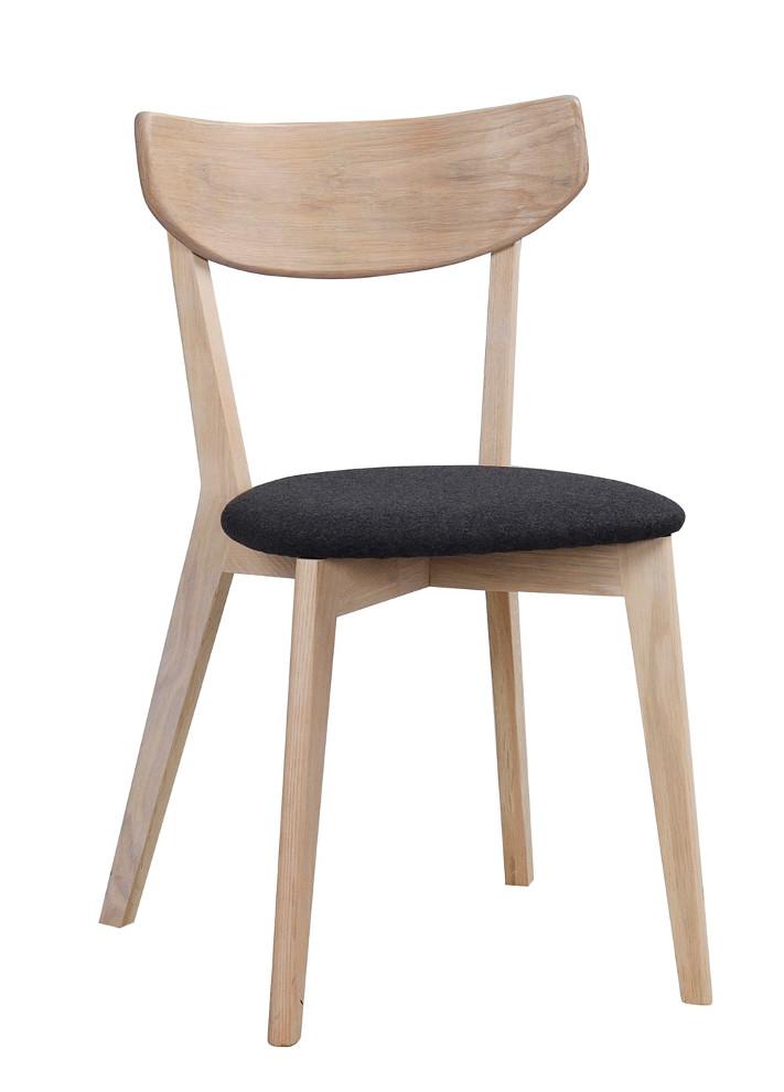 Ami tuoli kuultovalkoinen tammi, tummanharmaa kangas, Rowico