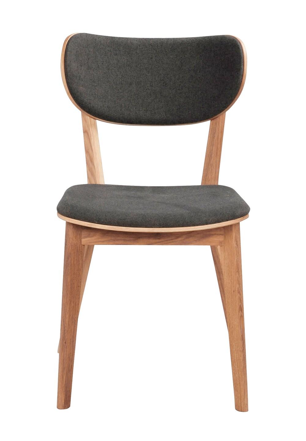 Kato tuoli lakattu tammi / tummanharmaa, Rowico