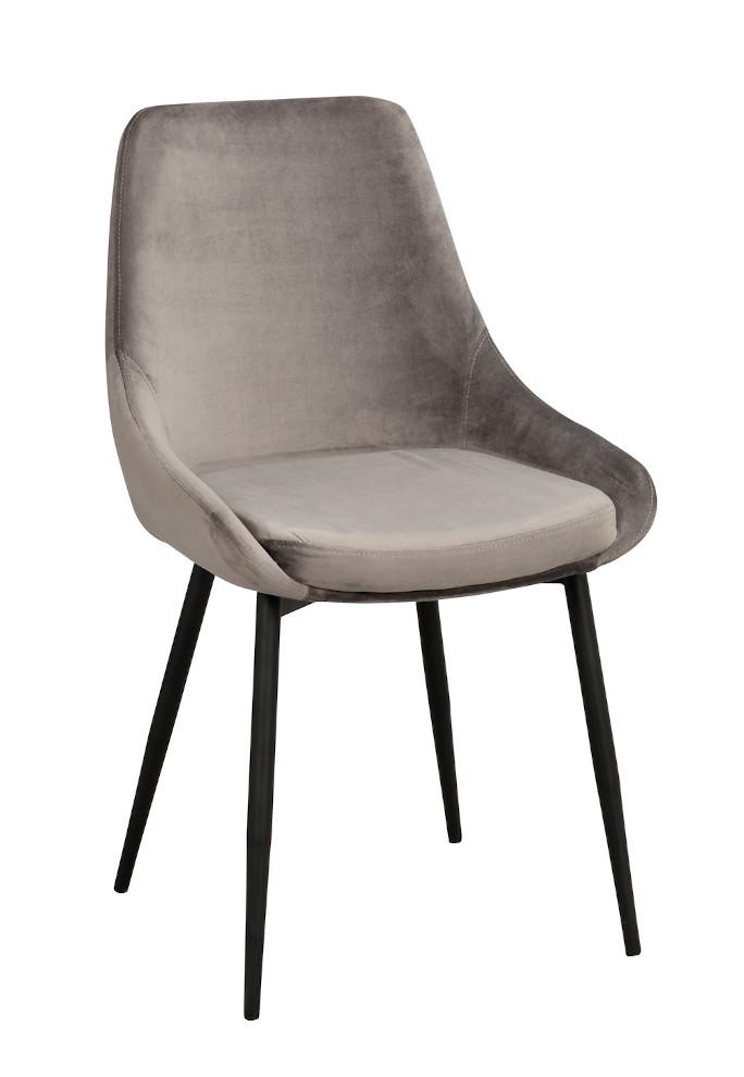 Sierra tuoli harmaa sametti / musta metalli, Rowico