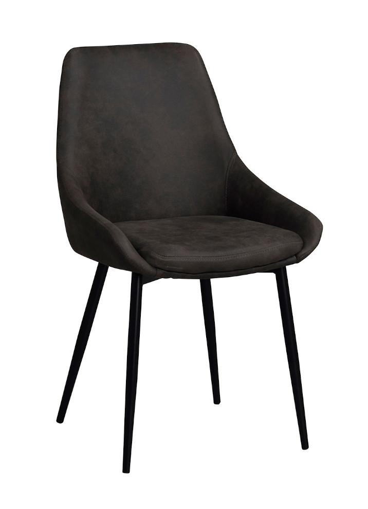 Sierra tuoli tummanharmaa / musta metalli, Rowico