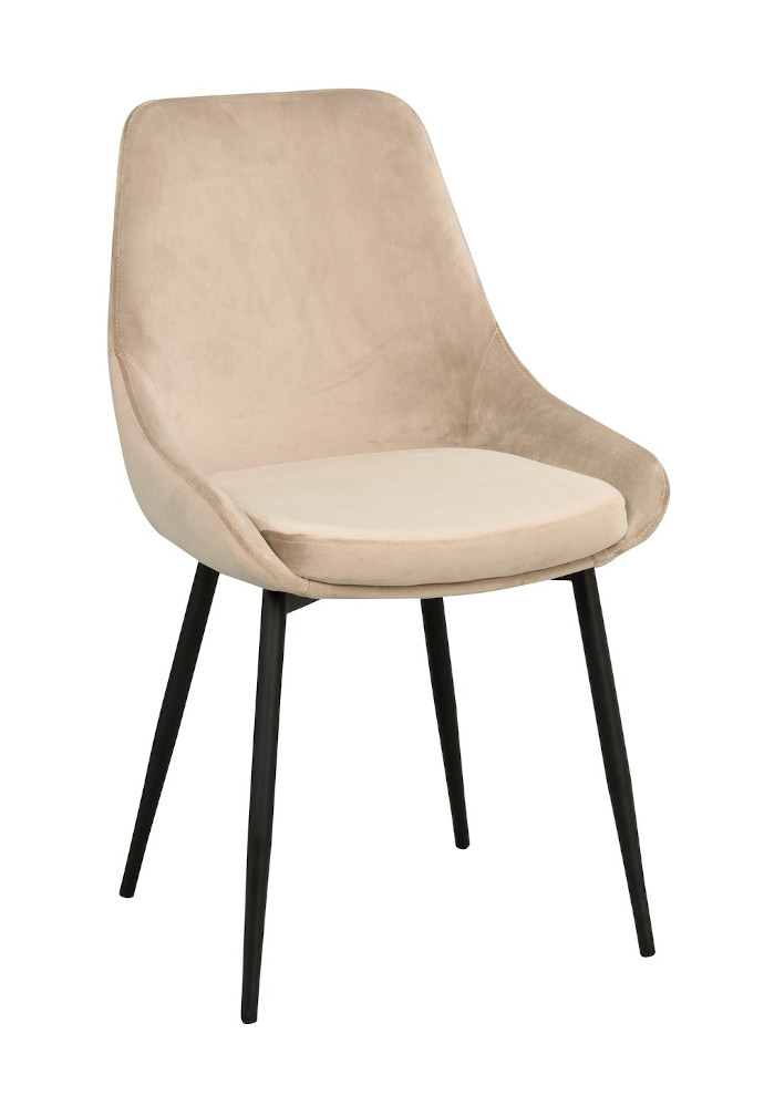 Sierra tuoli beige sametti / musta metalli, Rowico