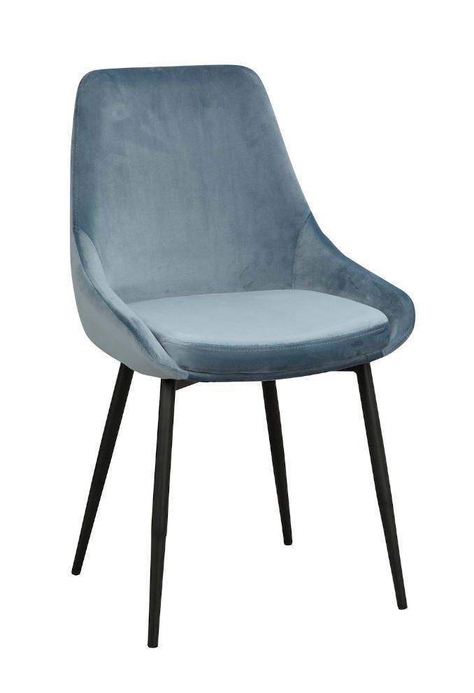 Sierra tuoli sininen sametti / musta metalli, Rowico