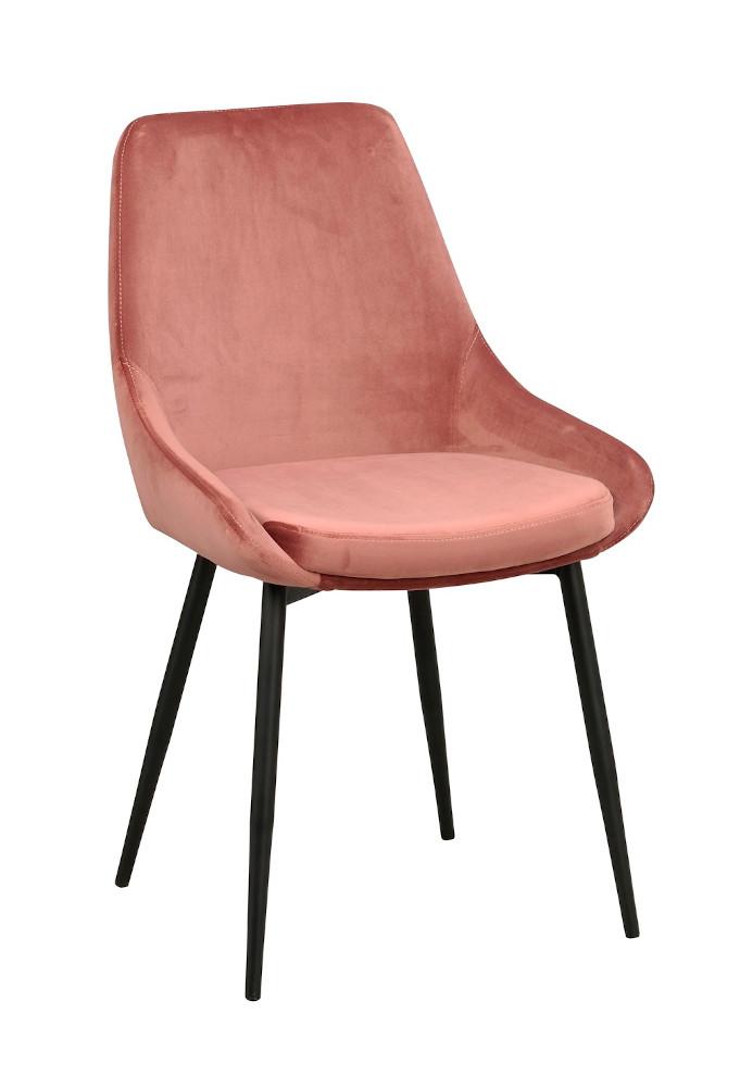 Sierra tuoli rosa sametti / musta metalli, Rowico