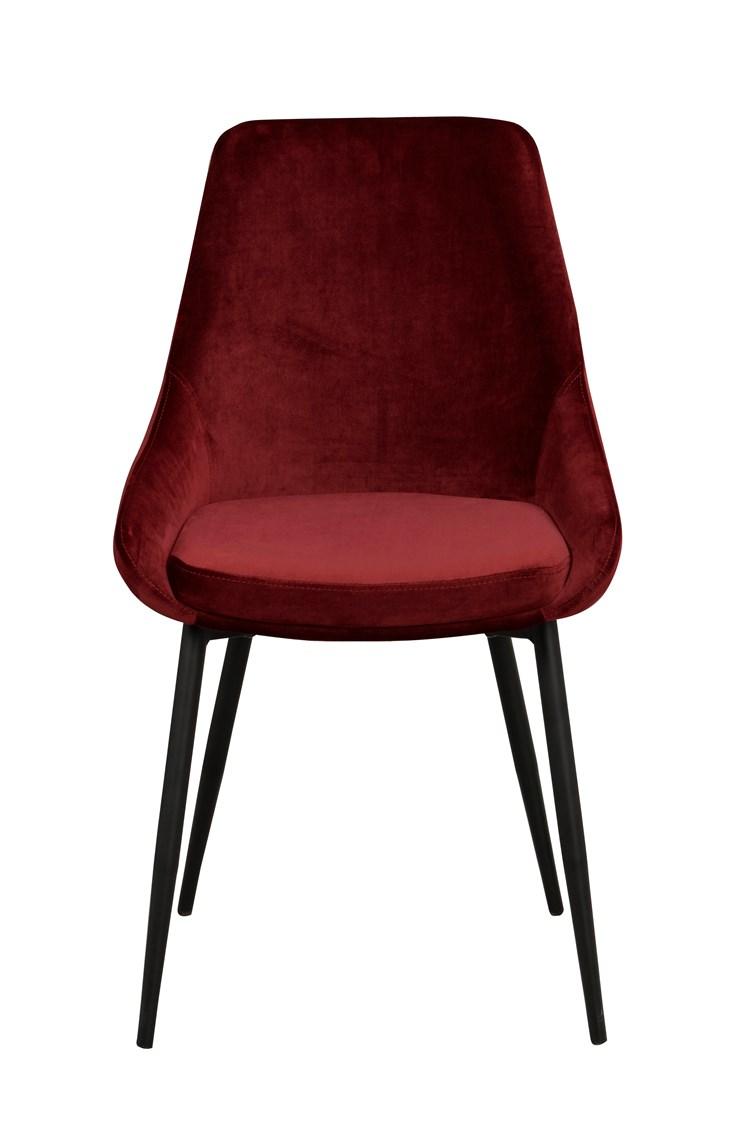 Sierra tuoli punainen sametti / musta metalli, Rowico