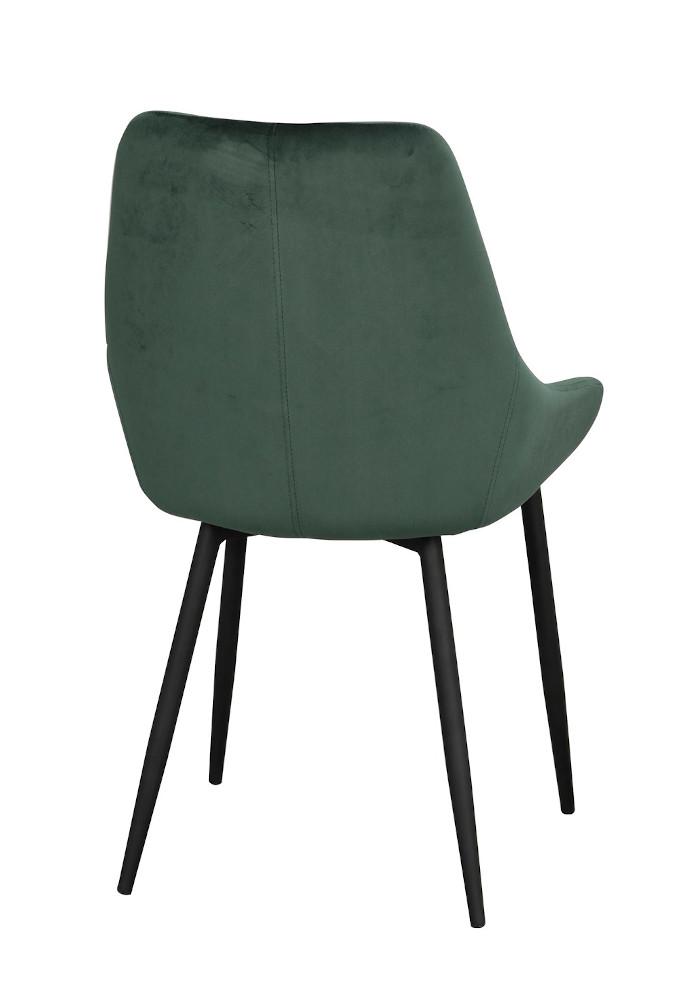 Sierra tuoli vihreä sametti / musta metalli, Rowico