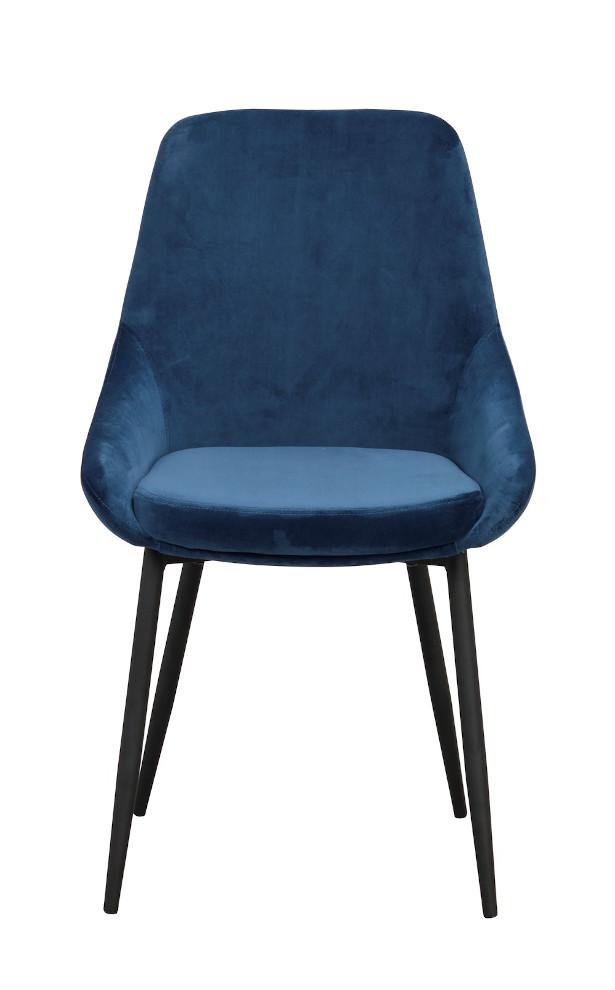 Sierra tuoli tummansininen / musta metalli, Rowico