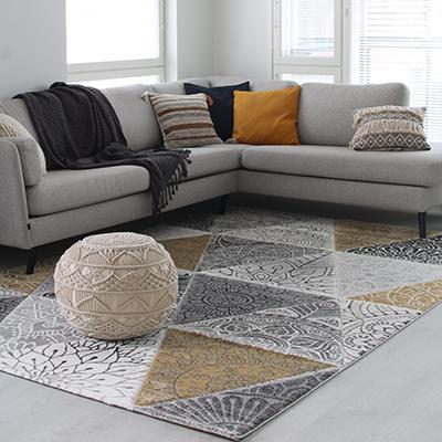 Halla matto 140x200 keltainen (kolmio)