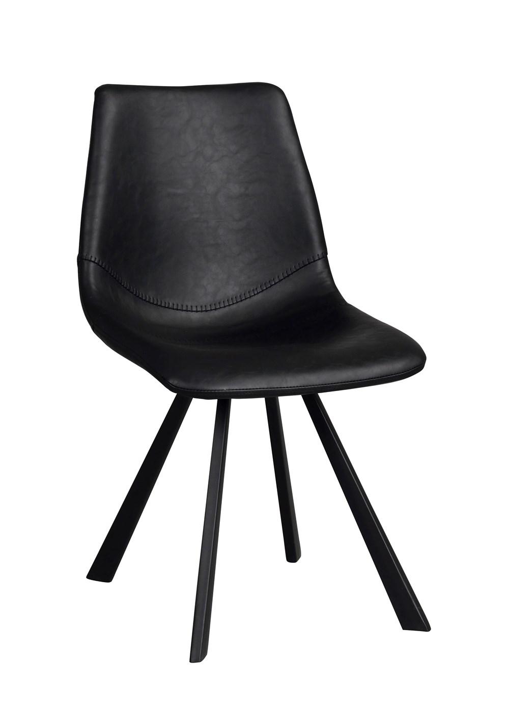 Auburn tuoli musta PU/musta metalli, Rowico