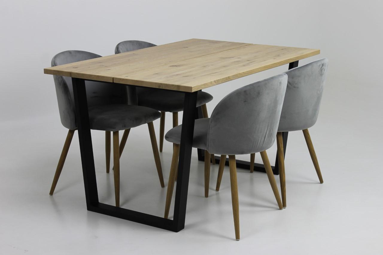 Jussi rustiikki tammi ruokapöytä 90 x 140 cm