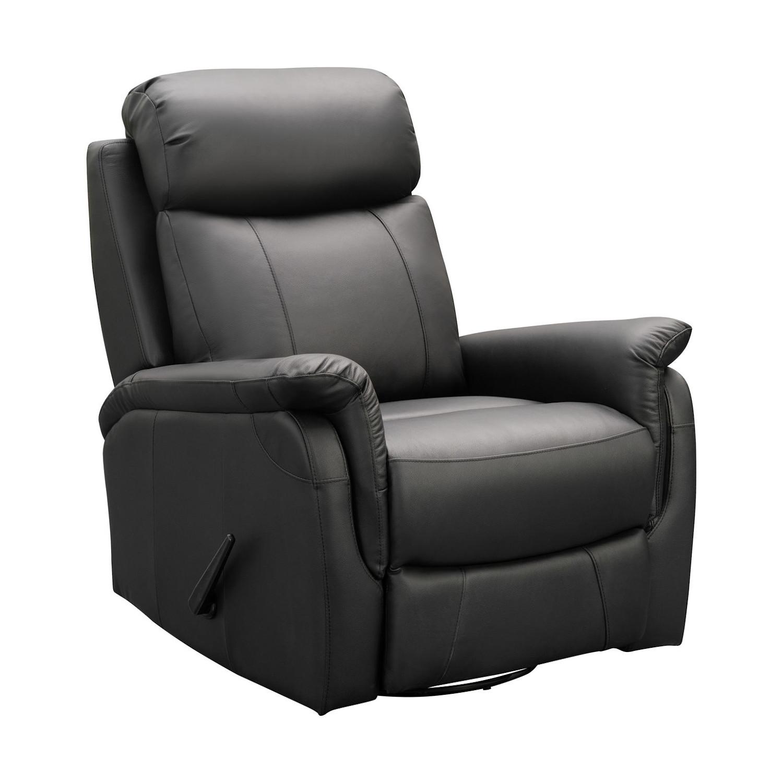 Victoria recliner tuoli, musta nahka/keinonahka, Tenstar