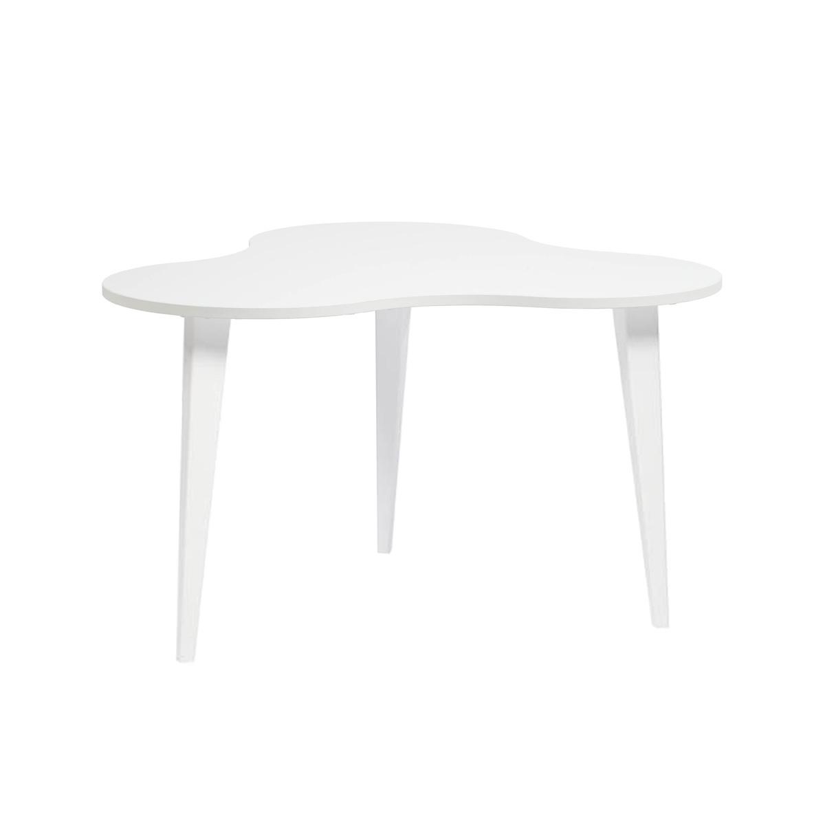 Luna 4 sohvapöytä valkoinen/valkoiset puujalat