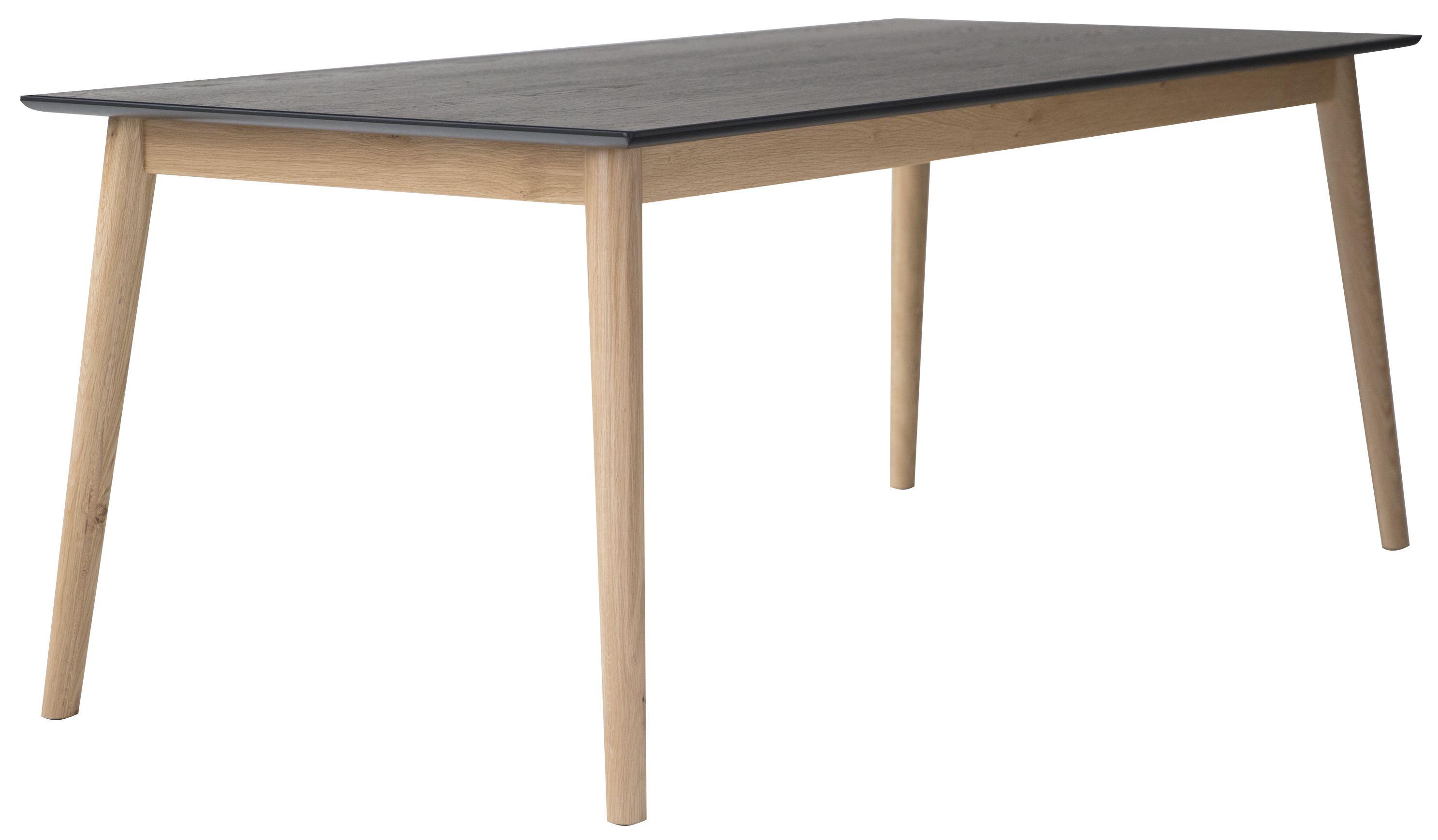 Eelis Ruokapöytä 145*85 Tammi musta/luonnonväri
