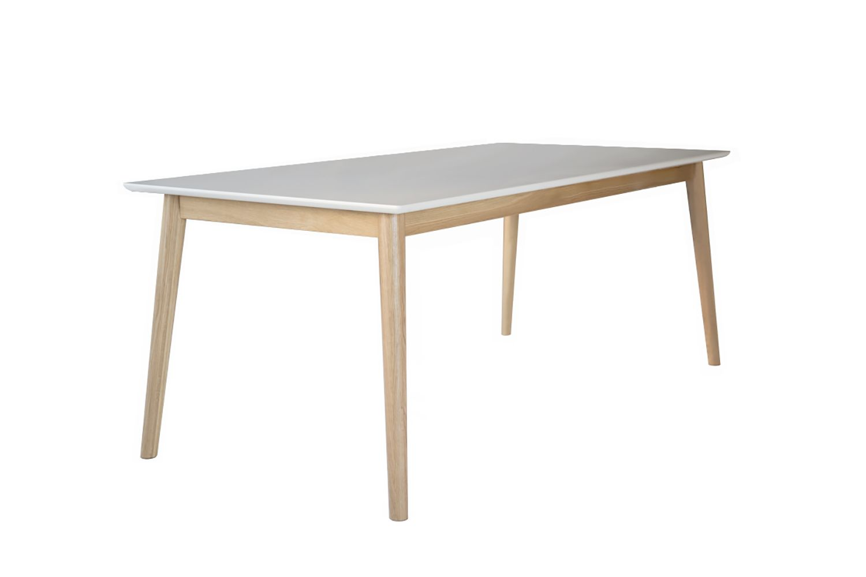 Eelis Ruokapöytä 145*85 Valkoinen/tammi