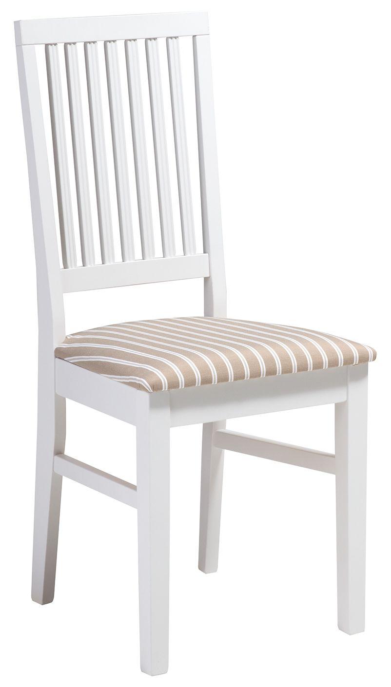 Ida tuoli valkoinen/beige kapea raita