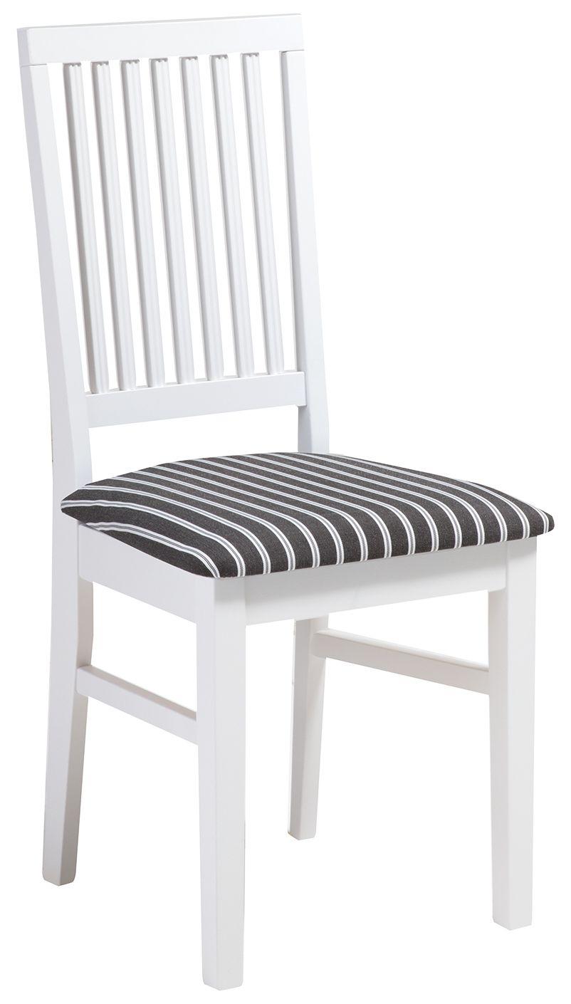 Ida tuoli valkoinen/harmaa kapea raita