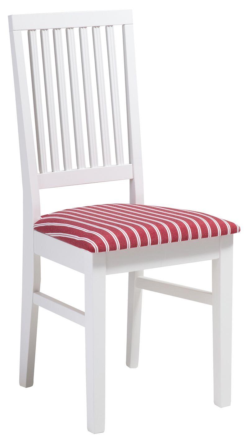 Ida tuoli valkoinen/punainen kapea raita