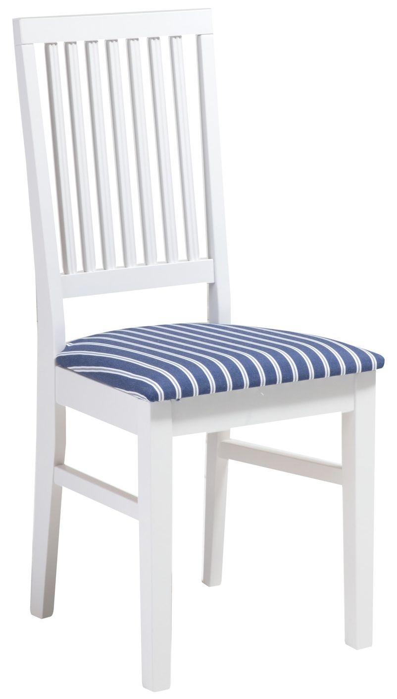 Ida tuoli valkoinen/sininen kapea raita