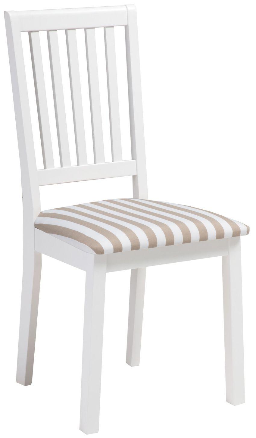 Sara Pinnatuoli Valkoinen/beige leveä raita