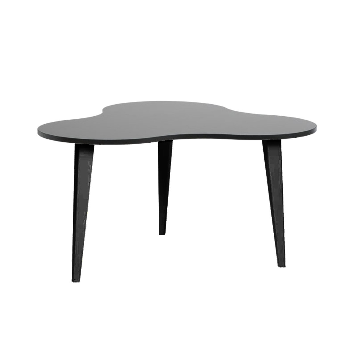 Luna 4 sohvapöytä musta/mustat puujalat
